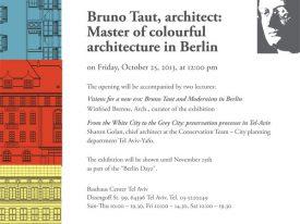 ברונו טאוט, אדריכל: אמן אדריכלות צבעונית בברלין