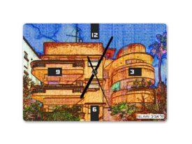 שעון קיר באוהאוס תל אביב 2 – בעיצוב אופק ורטמן