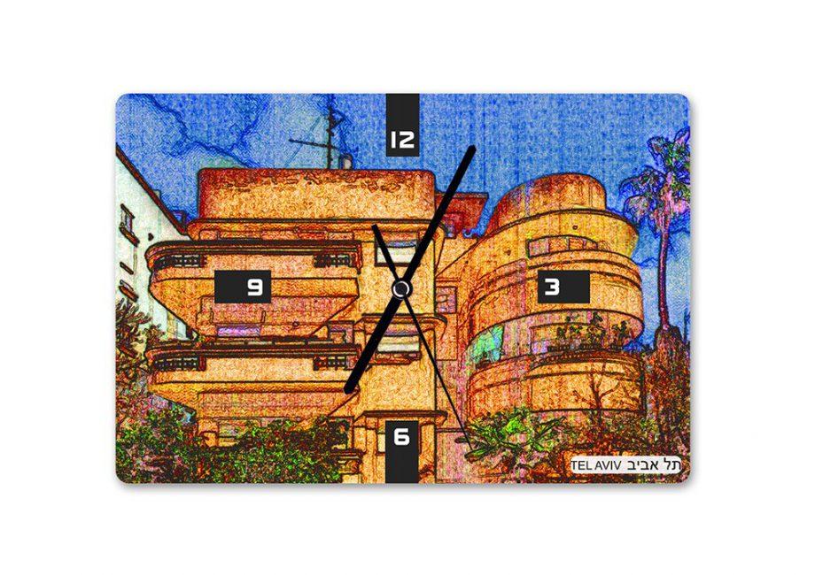 | שעון קיר באוהאוס תל אביב 2 - בעיצוב אופק ורטמן