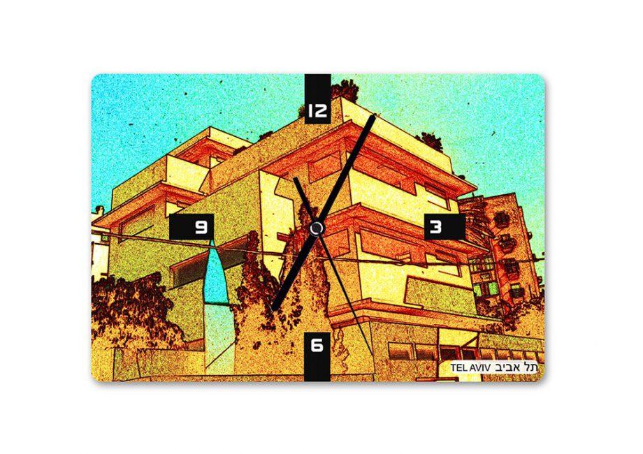 | שעון קיר באוהאוס תל אביב 7 - בעיצוב אופק ורטמן