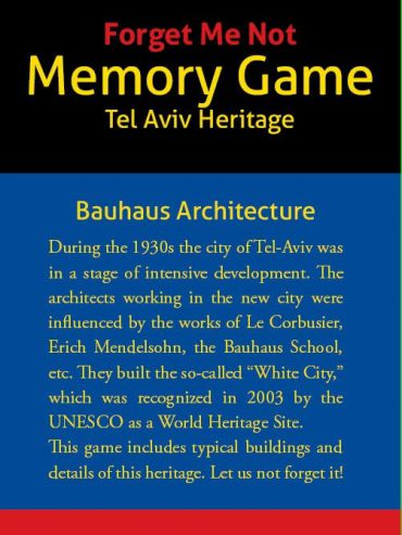 """Forget Me Not"" Bauhaus Memory Game"