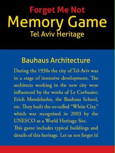 """""""Forget Me Not"""" Bauhaus Memory Game"""