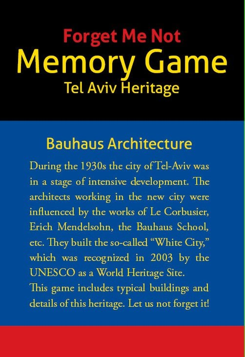 "| ""Forget Me Not"" Bauhaus Memory Game"