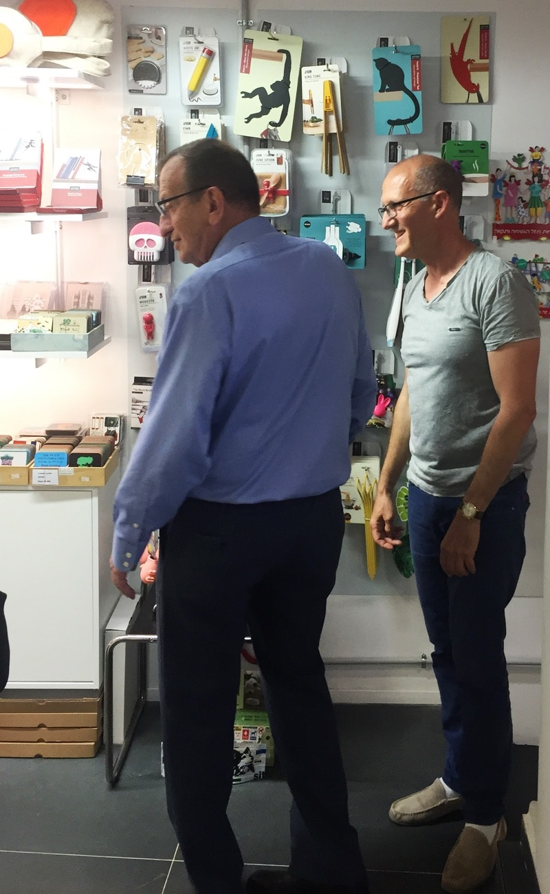 | A VIP Visitor at Bauhaus Center: Tel Aviv Mayor Ron Huldai