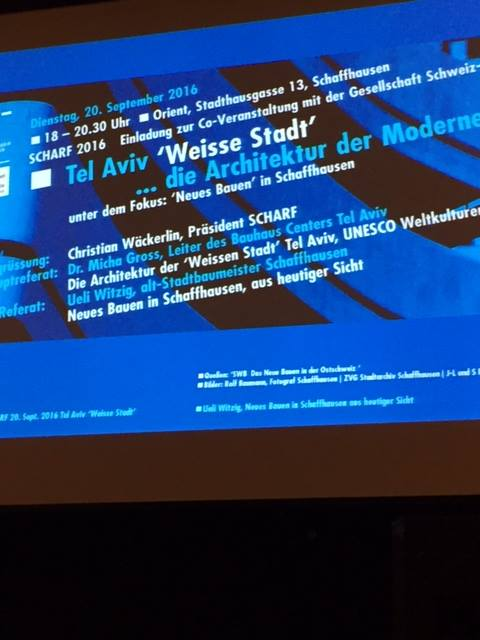 "Bauhaus on ""Tour de Suisse"" – nine lectures in Switzerland September 2016"