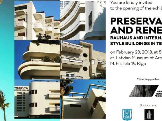 Riga hosts Bauhaus Center Tel Aviv 26.2.-2.3.2018