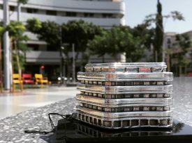 Dizengoff Square, Tel Aviv Sterling Silver Miniature Building