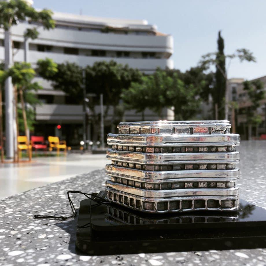 | Dizengoff Square, Tel Aviv Sterling Silver Miniature Building